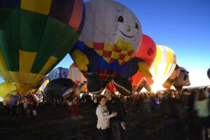 Went to the Albuquerque Balloon Festival in October.
