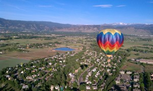 My first hot air balloon ride over Boulder in June.