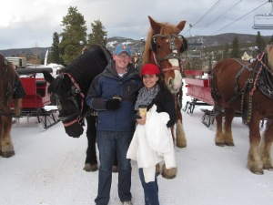 Sleigh ride in Breckenridge, Colo.